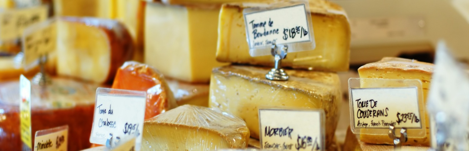 Selection of french cheeses