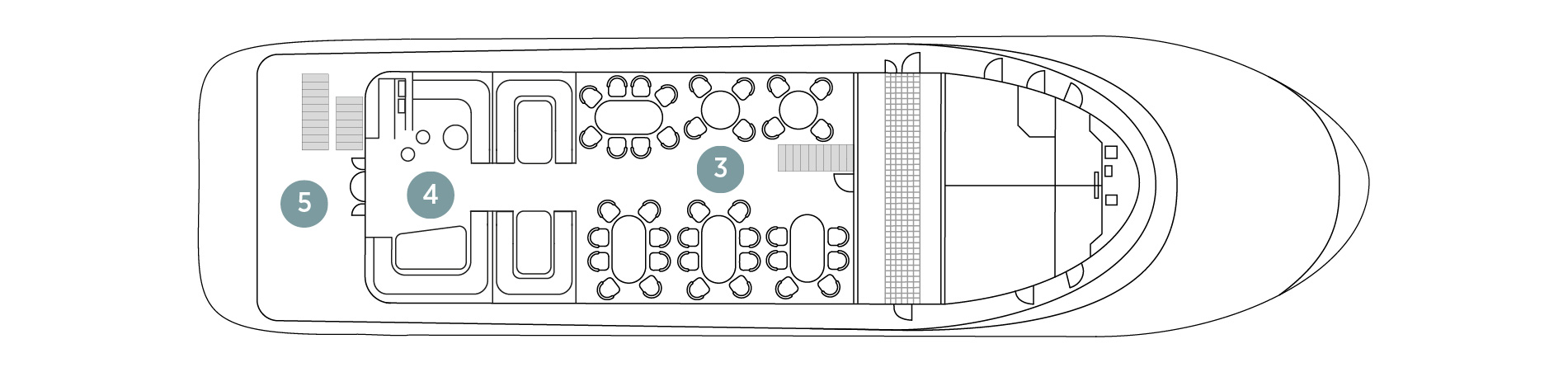 Adriatic Pearl Upper Deck plan
