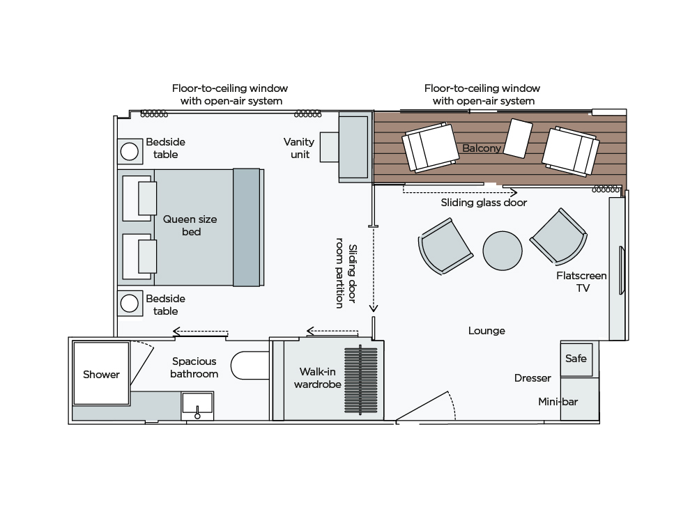 Emerald Waterways Cabin & Deck Plan
