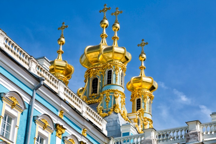 golden domes of the white palace