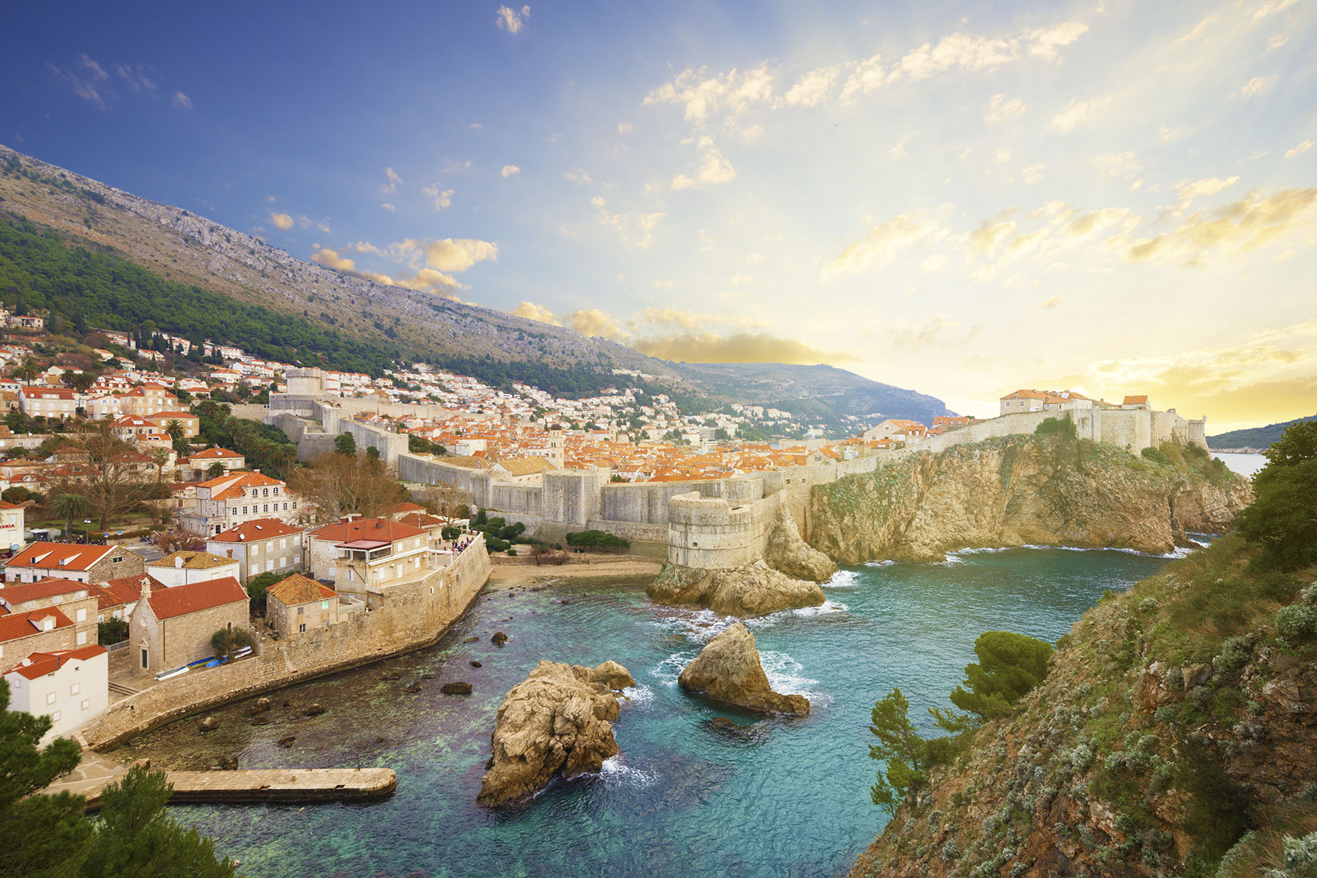 The beautiful landscape of Dubrovnik