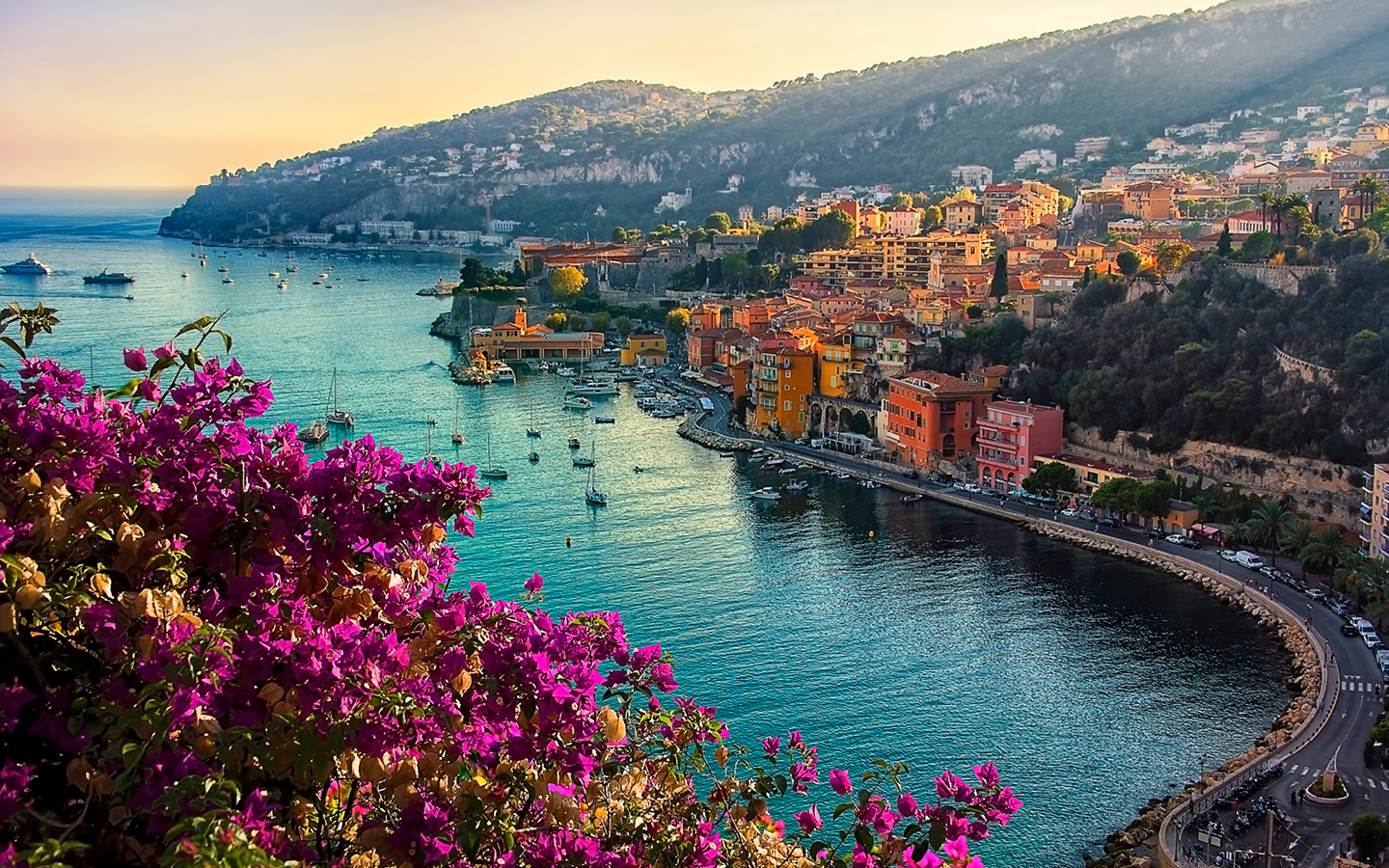 An image of a harbour in Nice, France