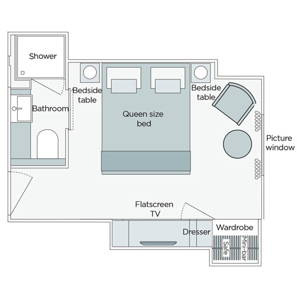 Emerald Stateroom Floorplan