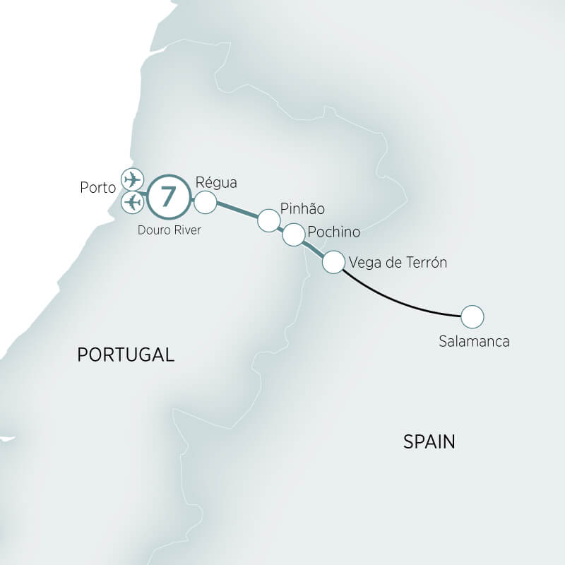 Map of the Douro with Mary Berry tour
