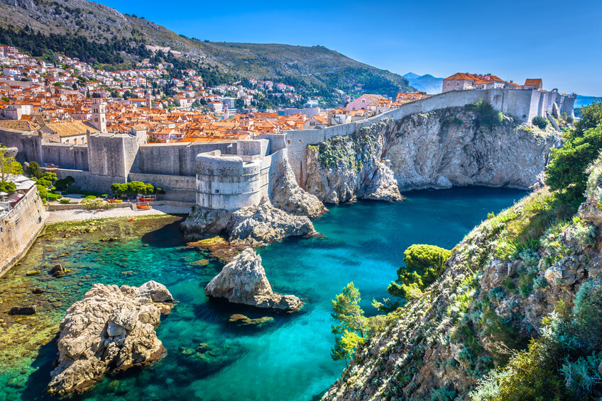 Aerial View of Walls of Dubrovnik, Scenic Tours to Croatia